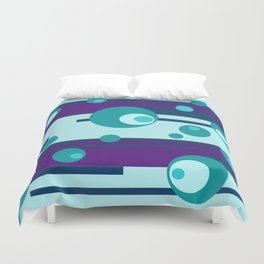 Geometic Circles turquoise purple Duvet Cover
