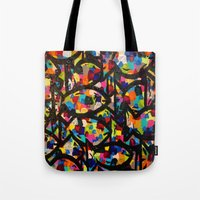 trout Tote Bags featuring Rainbow Trout by Jordan Luckow