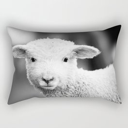 Lamb in Black and White Rectangular Pillow