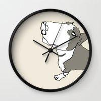 terry fan Wall Clocks featuring Terry by caseysplace