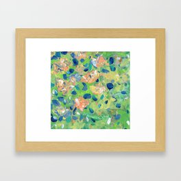 Just Because - Abstract floral Framed Art Print