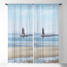 Lewes Lighthouse Sheer Curtain
