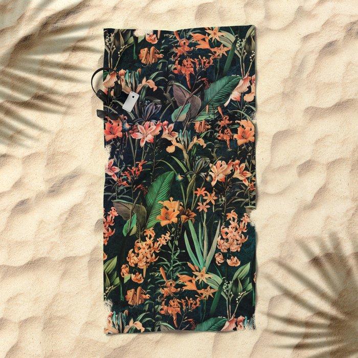 Exotic Garden Beach Towel