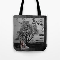 zombie Tote Bags featuring zombie by Shea33