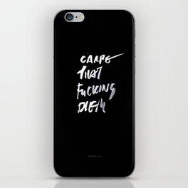 CARPE / brush test version iPhone Skin