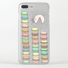 Macarons eater Clear iPhone Case