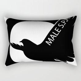 MALE SPA - BLACK DOVE LOGO Rectangular Pillow