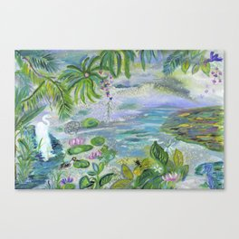 Pond in the Morning Canvas Print