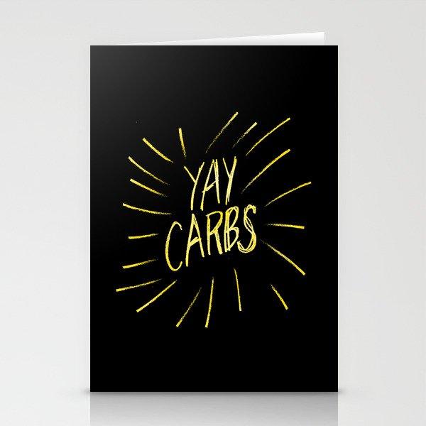 yay carbs Stationery Cards