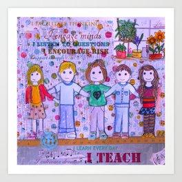Teacher Appreciation Art Print