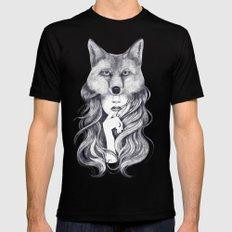 Fox in soul Mens Fitted Tee MEDIUM Black