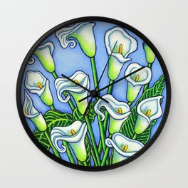 Calla Lily Dreaming Wall Clock