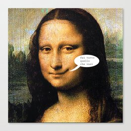 Smirking Mona Lisa Canvas Print