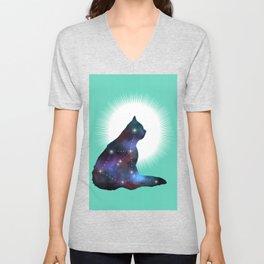 Nebula cat Unisex V-Neck