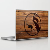 skiing Laptop & iPad Skins featuring Skiing by Paul Simms