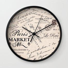 Paris Market 2 Wall Clock