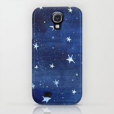 Midnight Stars Night Watercolor Painting by Robayre Slim Case Galaxy S4