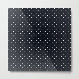 Little Dots White on Black Metal Print