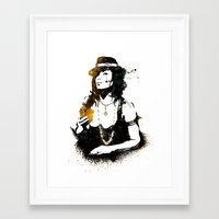 poker Framed Art Prints featuring Poker by Oody
