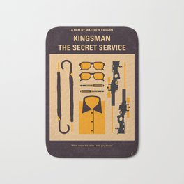 No758 My Kingsman minimal movie poster Bath Mat