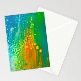Aqua orange Stationery Cards