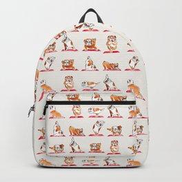English Bulldog Yoga Watercolor Backpack