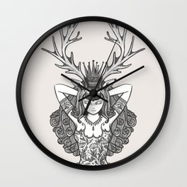 My Deer Girl Wall Clock
