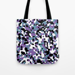Uncovered Camouflage Purple And Turquoise Tote Bag