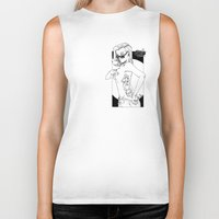 tatoo Biker Tanks featuring tatoo tanga & cigarette by kingsimon
