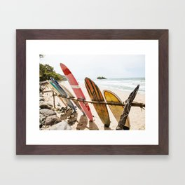 Surfing Day 2 Framed Art Print