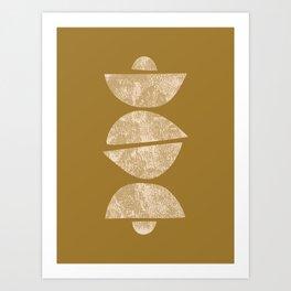 Abstract Half Circles Art Print