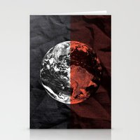globe Stationery Cards featuring Globe by journohq