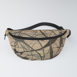 Pollock Inspired Cool Abstract Splatter Drip Art Painting - Corbin Henry Fanny Pack