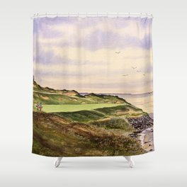 Whistling Straits Golf Course Hole 7 Shower Curtain