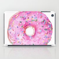 donut iPad Cases featuring DONUT!!!! by annelise johnson