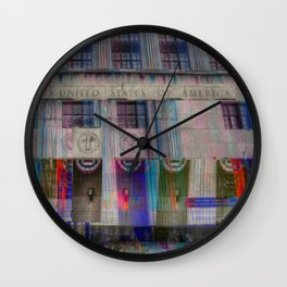 Detroit Court House (Glitch) Wall Clock