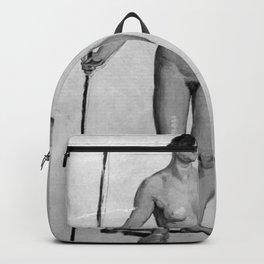 Constantin Hansen - Stående nøgen kvindelig model Backpack
