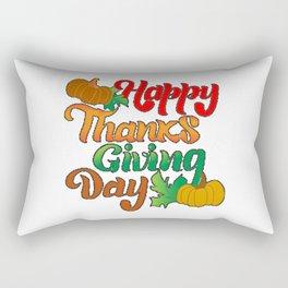 happy thanksgiving day t-shirt  Rectangular Pillow