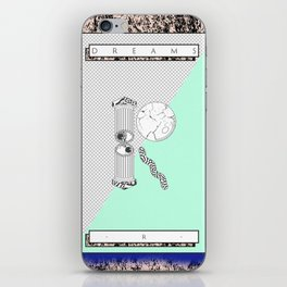 """R"" of DREAMS iPhone Skin"