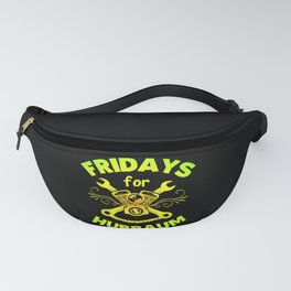 Fridays for Hubraum Slogan Funny Climate piston Fanny Pack
