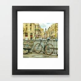 Gran Via Street, Madrid, Spain Framed Art Print