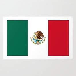The Mexican national flag - Authentic high quality file Art Print