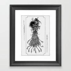 Death Gown Framed Art Print