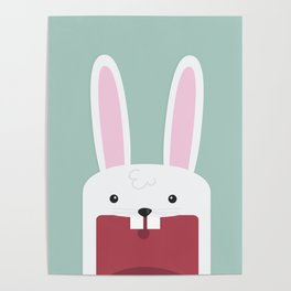 Jawdrop Bunny Poster