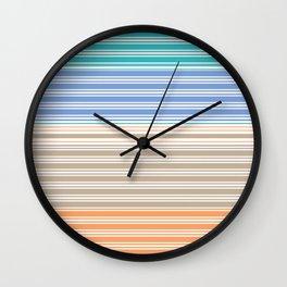 Cool Summer Stripes Wall Clock