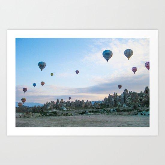 Hot Air Balloons Art Print