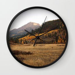 Mountain Valley Morning Light Wall Clock