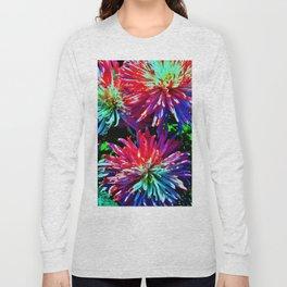 Colorful Dahlias Long Sleeve T-shirt
