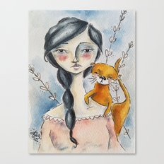 Otter Love Canvas Print
