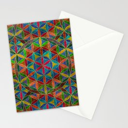 The Flower of Life (Sacred Geometry) 4 Stationery Cards